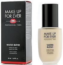 Düfte, Parfümerie und Kosmetik Foundation für Gesicht und Körper - Make Up For Ever Water Blend Foundation