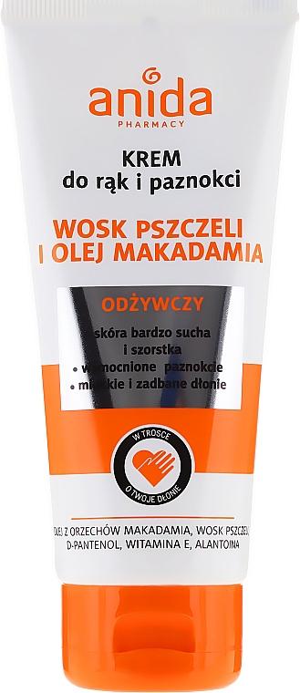 Hand- und Nagelcreme mit Bienenwachs und Macadamiaöl - Anida Pharmacy Hand Cream Macadamia Oil