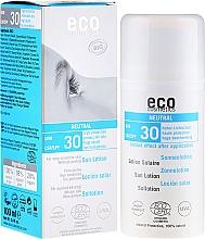 Düfte, Parfümerie und Kosmetik Sonnenschützende Lotion, aromafrei SPF 30 - Eco Cosmetics Sun Lotion SPF 30
