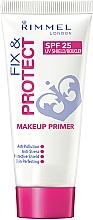 Düfte, Parfümerie und Kosmetik Primer gegen gestresste Haut und Schutz vor Umweltverschmutzung - Rimmel Fix & Protect Makeup Primer SPF25