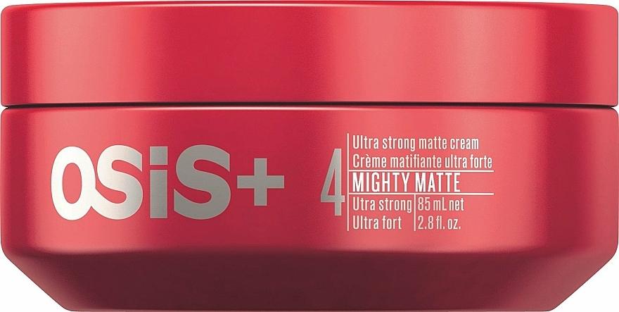 Mattierende Stylingcreme mit extra starkem Halt - Schwarzkopf Professional Osis+ Mighty Matte Cream