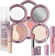Düfte, Parfümerie und Kosmetik Make-up Set - Paese 12 Nanorevit (Foundation 35ml + Concealer 8.5ml + Lippenstift 4.5ml + Puder 9g + Puder 4.5g + Gesichtspuder und Rouge 4.5g + Lippenstift 2.2g)