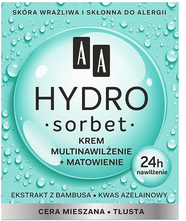 Mattierende und feuchtigkeitsspendende Gesichtscreme - AA Hydro Sorbet Moisturising & Mattifying Cream