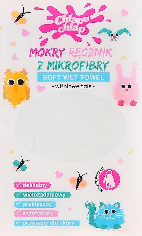 Feuchtes Mikrofasertuch mit Kirschduft - Chlapu Chlap Soft Wet Towel Cherry
