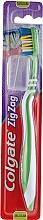 Düfte, Parfümerie und Kosmetik Zahnbürste mittel Zig Zag grün-weiß - Colgate Zig Zag Plus Medium Toothbrush