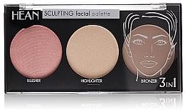 Düfte, Parfümerie und Kosmetik 3in1 Gesichtspalette zum Konturieren - Hean Paletka Sculpting
