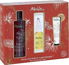 Düfte, Parfümerie und Kosmetik Körperpflegeset - Melvita Argan Bio Set (Duschgel 250ml + Bio-Arganöl 50ml + Handcreme mit Arganöl 30ml)