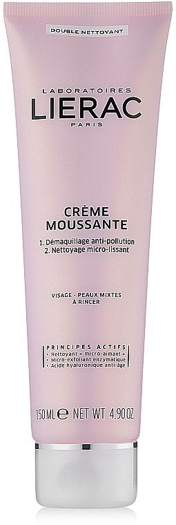 Schäumende Gesichtsreinigungscreme - Lierac Double Nettoyant Creme Moussante