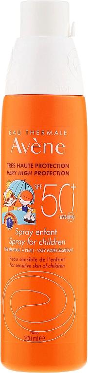 Sonnenschutzspray für empfindliche Kinderhaut SPF 50+ - Avene Eau Thermale Solar Spray Children SPF50