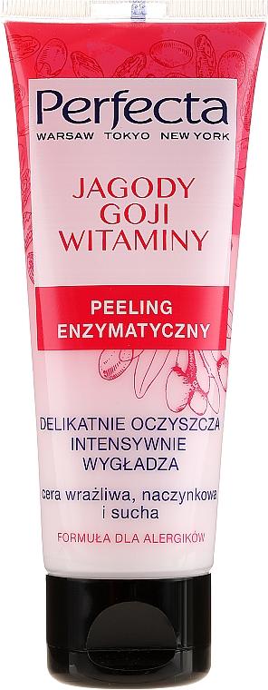 Enzyatisches Gesichtspeeling für empfindliche, trockene Haut mit Goji-Beeren und Vitaminen - Perfecta