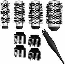 Düfte, Parfümerie und Kosmetik Haarbürsten-Set - Lussoni Waves To Go (Bürsten 4St. + Haarspangen 4St.)