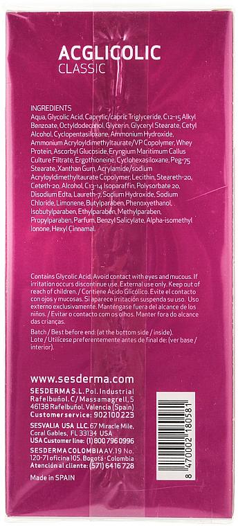 Feuchtigkeitsspendende Körpermilch - SesDerma Laboratories Acglicolic Body Milk — Bild N2