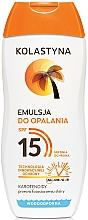Düfte, Parfümerie und Kosmetik Wasserfeste Sonnenschutzlotion SPF 15 - Kolastyna Emulsion SPF 15