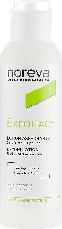 Gesichts-, Rücken- und Brustlotion für fettige und Problemhaut - Noreva Laboratoires Exfoliac Drying Lotion
