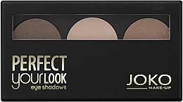 Düfte, Parfümerie und Kosmetik Lidschatten-Trio - Joko Perfect Your Look Trio Eye Shadows