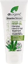 Düfte, Parfümerie und Kosmetik Hand- und Nagelcreme mit Hanföl - Dr. Organic Hemp Oil Intensive Hand & Nail Treatment