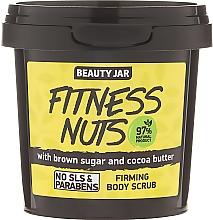 """Düfte, Parfümerie und Kosmetik Straffendes Körperpeeling mit braunem Zucker und Kakaobutter """"Fitness Nuts"""" - Beauty Jar Firming Body Scrub"""