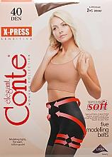 Düfte, Parfümerie und Kosmetik Strumpfhose für Damen X-Press 40 Den Bronz - Conte
