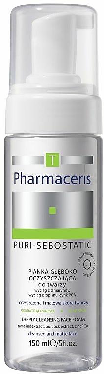 Tiefenreinigender und ausgleichender Gesichtsreinigungsschaum für die T-Zone - Pharmaceris T Puri-Sebostatic Deeply Cleansing Foam