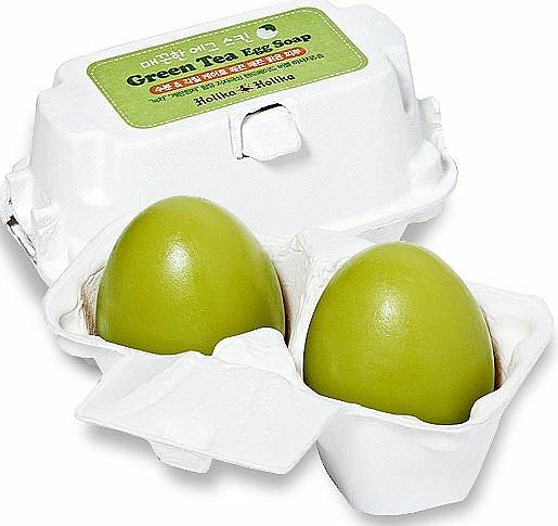 Kosmetische Seife zum Entfernen von Make-up mit grünem Tee - Holika Holika Green Tea Egg Soap