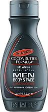 Düfte, Parfümerie und Kosmetik Feuchtigkeitsspendende Körper- und Gesichtslotion mit Vitamin E und Kakaobutter - Palmer's Cocoa Butter Formula Men Body & Face Lotion