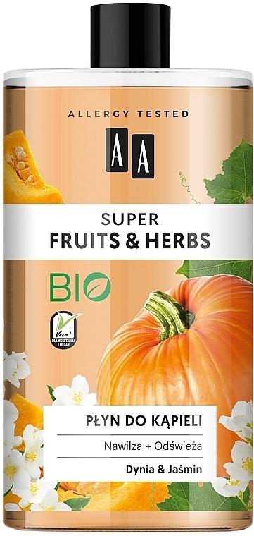 Feuchtigkeitsspendender und erfrischender Badeschaum mit Kürbis und Jasmin - AA Super Fruits & Herbs