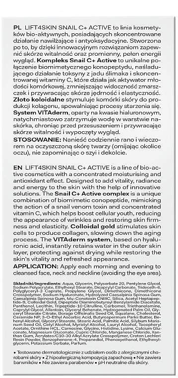 Intensiv feuchtigkeitsspendendes und glättendes Gesichtsserum - Lift4Skin Snail C+ Serum — Bild N2