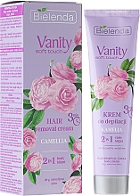 Düfte, Parfümerie und Kosmetik 2in1 Enthaarungscreme mit Kamelie für trockene und empfindliche Haut - Bielenda Vanity Soft Touch Kamelia