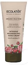 Düfte, Parfümerie und Kosmetik Intensiv regenerierende Handcreme mit wilder Rose - Ecolatier Organic Wild Rose Intensive Regenerating Hand Cream