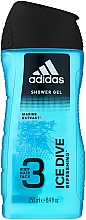 Düfte, Parfümerie und Kosmetik Duschgel - Adidas Ice Dive Body, Hair and Face Shower Gel