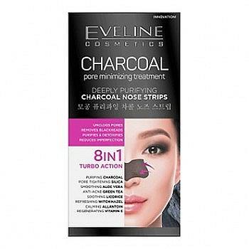 Mitesser-Pflaster für Nase - Eveline Cosmetics Charcoal Nose Strips