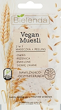 Düfte, Parfümerie und Kosmetik 2in1 Peelingmaske für das Gesicht - Bielenda Vegan Muesli