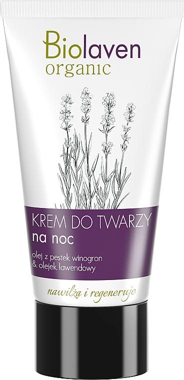 Feuchtigkeitsspendende und regenerierende Nachtcreme mit Traubenkern- und Lavendelöl - Biolaven Night Face Cream