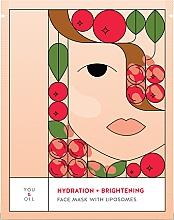 Düfte, Parfümerie und Kosmetik Feuchtigkeitsspendende und aufhellende Gesichtsmaske mit Liposomen - You & Oil Hydration & Brightening Face Mask With Liposomes