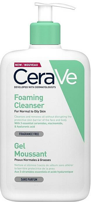 Reinigendes Gesichts- und Körpergel mit Hyaluronsäure - CeraVe Foaming Cleanser