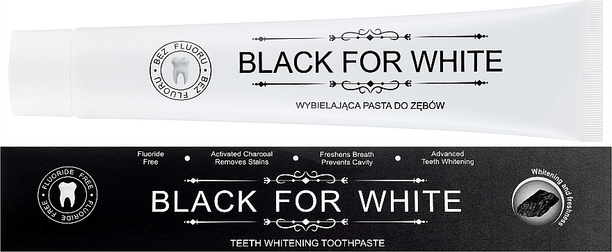 Aufhellende Zahnpasta mit Aktivkohle - Biomika Black For White Teeth Paste