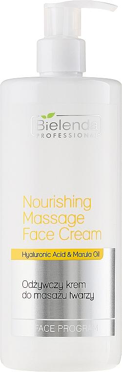 Pflegende Massagecreme für Gesicht mit Hyaluronsäure und Marulaöl - Bielenda Professional Face Program Nourishing Massage Face Cream — Bild N1
