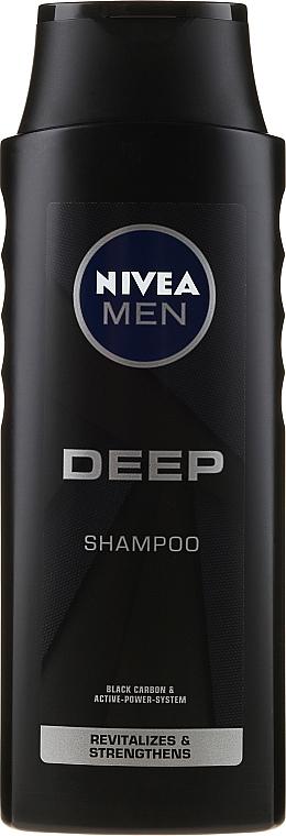 Revitalisierendes Shampoo für Männer mit Elektrolyten und Aktivkohle - Nivea Men Deep Revitalizing Shampoo