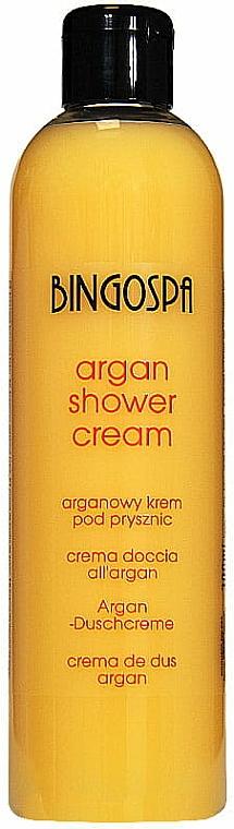 Duschcreme mit Arganöl und Pfirsichduft - BingoSpa Argan Cream With Peach Shower
