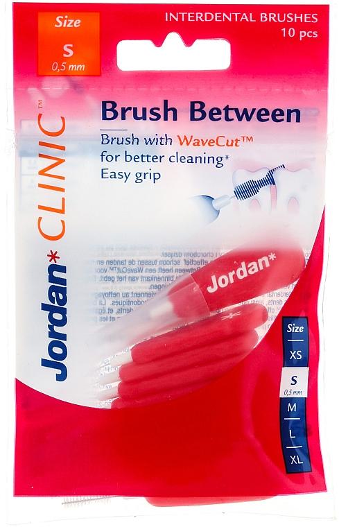 Interdentalzahnbürsten Clinic S 0,5 mm rot 10 St. - Jordan Clinic Interdental Brush S