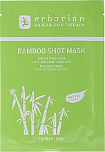 Düfte, Parfümerie und Kosmetik Feuchtigkeitsspendende Tuchmaske für das Gesicht mit Bambus - Erborian Bamboo Shot Mask