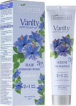 Düfte, Parfümerie und Kosmetik 2in1 Enthaarungscreme mit Eibisch - Bielenda Vanity Soft Touch Hibiscus