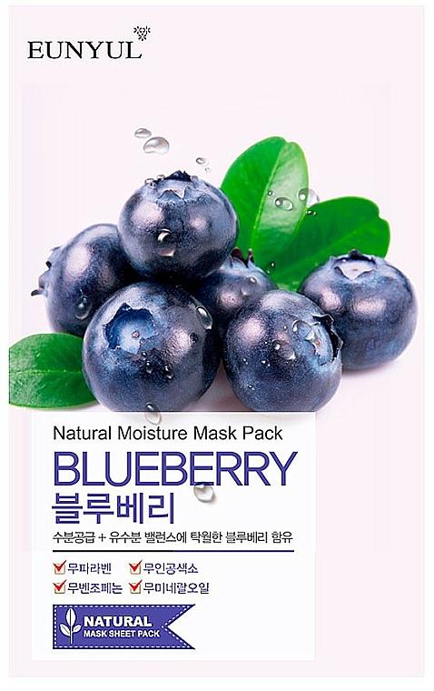 Tuchmaske für das Gesicht mit Blaubeerextrakt - Eunyul Natural Moisture Blueberry Mask