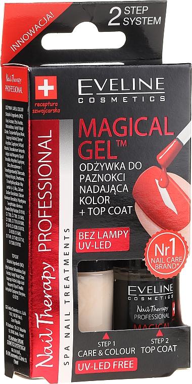 Nagellack-Set mit Gel-Effekt - Eveline Cosmetics Natural Light Magical Gel Technology (Nagellack + Überlack)