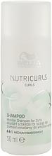 Düfte, Parfümerie und Kosmetik Mizellen-Shampoo für Locken mit Anti-Frizz-Effekt - Wella Professionals Nutricurls Curls Shampoo (Mini)