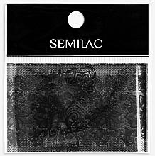Düfte, Parfümerie und Kosmetik Folie zur Nageldekoration - Semilac 06 Transfer Nagelfolie Semilac Black Lace