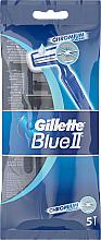 Düfte, Parfümerie und Kosmetik Set Einwegrasierer 5 St. - Gillette Blue II Chromium