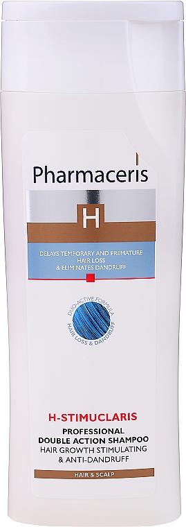 Anti-Schuppen Shampoo zur Stimulierung des Haarwachstums - Pharmaceris H-Stimupeel Professional Double Action Shampoo Hair Growth Stimulating & Anti-Dandruff