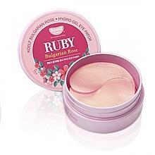 Düfte, Parfümerie und Kosmetik Hydrogel-Augenpatches mit Rubinen und bulgarischer Rose - Petitfee & Koelf Ruby & Bulgarian Rose Eye Patch