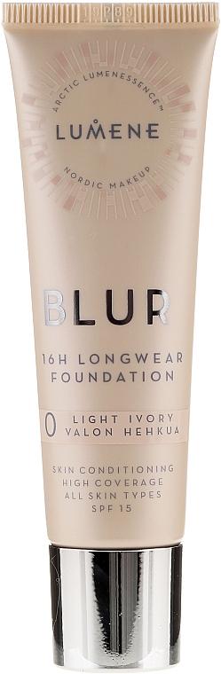 Langanahaltende Foundation LSF 15 - Lumene Blur 16H Longwear Foundation SPF 15 2 Soft Honey